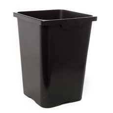 Flower Bucket Plastic Square 27L 28x40cmH Black