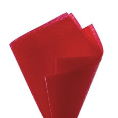 Premium Nonwoven - Embossed Nonwoven Wrap 80gsm Red (50x70cm) Pack 50