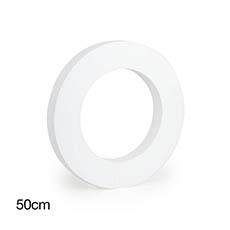 Polystyrene Wreath Round 20 (50Dx5cm)
