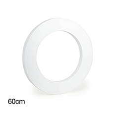 Polystyrene Wreath Round 24 (60Dx5cm)
