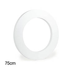 Polystyrene Wreath Round 30 (75Dx5cm)