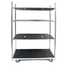 Flower Trolley Galvanized with 3 Shelves (135X56x190cmH)