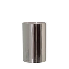 Cylinder & Conical Vases - Glass Cylinder Vase 15Dx25cmH Chrome Grey