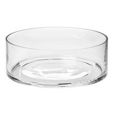 Cylinder & Conical Vases - Glass Float Bowl Clylinder Clear (30x9cmH)