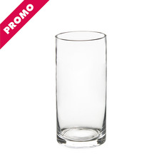 Glass Cylinder Vases - Glass Cylinder Vase Clear (10Dx15cmH) Promo