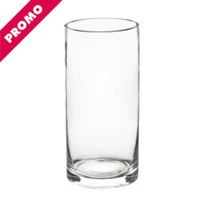 Glass Cylinder Vases - Glass Cylinder Vase Clear (12Dx25cmH) Promo
