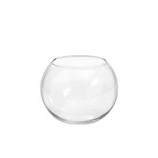 Fish Bowl Vases - Glass Fish Bowl 13cmD Clear