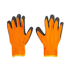 Florist Warehouse Supplies - Premium Glove Orange Black Pair (24cm)