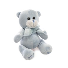 Baby Teddy Bears - Teddy Bear Baby Paw Print Blue (15cmST)