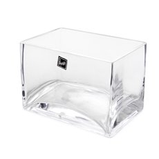Glass Rectangle Vase (15x10x10cmH) Clear
