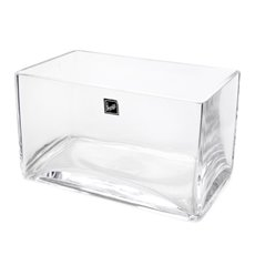 Glass Rectangle Vase 20x12x12cmH Clear