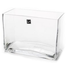 Glass Square Vases - Glass Rectangle Vase Clear (20x10x15cmH)