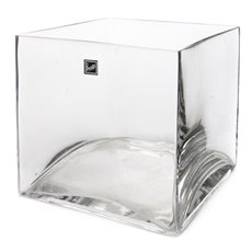 Cube and Square Vases - Glass Cube Vase 18cm Clear (18x18x18cmH)