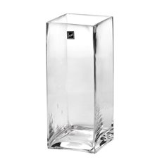 Glass Square Vases - Glass Square Tank Vase 10cm Clear (10x10x25cm)