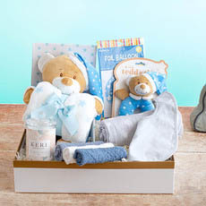 Baby Hampers - Starbright Deluxe Boys Baby Hamper Blue