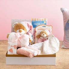 Baby Hampers - Starbright Deluxe Girls Baby Hamper Pink