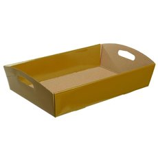 Cardboard Hamper Tray - Hamper Tray Flat Pack Large Gold (45x30x9cmH)