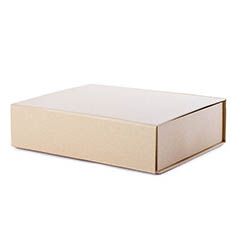 Cardboard Gourmet Box - Gourmet Gift Box Magnetic Flap Lge Brown Kraft 38x26x9.5cmH