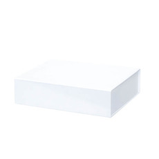 Cardboard Gourmet Box - Gourmet Gift Box Magnetic Flap Large White (38x26x9.5cmH)