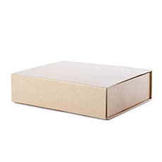 Cardboard Gourmet Box - Gourmet Gift Box Magnetic Flap Med Brown Kraft (32x24x9cmH)