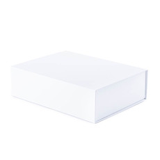 Cardboard Gourmet Box - Gourmet Gift Box Magnetic Flap Medium White (32x24x9cmH)
