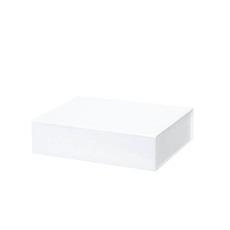 Cardboard Gourmet Box - Gourmet Gift Box Magnetic Flap Small White (25x20x6.5cmH)