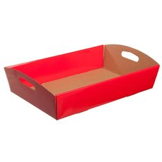 Cardboard Hamper Tray - Hamper Tray Flat Pack Large Red (45x30x9cmH)