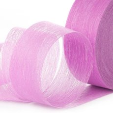 Nonwoven Floral Decor Ribbon - Ribbon Floral Deco Hot Pink (4cmx40m)