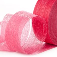 Nonwoven Floral Decor Ribbon - Ribbon Floral Deco Red (4cmx40m)
