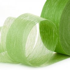 Nonwoven Floral Decor Ribbon - Ribbon Floral Deco Lime (4cmx40m)