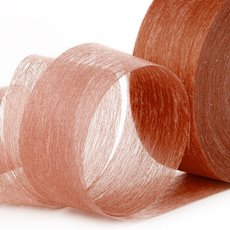 Nonwoven Floral Decor Ribbon - Ribbon Floral Deco Chocolate (4cmx40m)