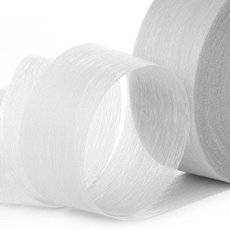 Nonwoven Floral Decor Ribbon - Ribbon Floral Deco White (4cmx40m)