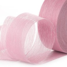 Nonwoven Floral Decor Ribbon - Ribbon Floral Deco Baby Pink (4cmx40m)
