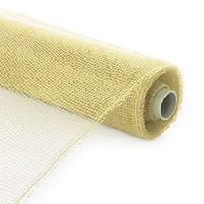 Plain Mesh Wrap - Plastic Mesh Roll Cream (53cmx9m)
