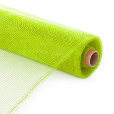 Plain Mesh Wrap - Plastic Mesh Roll Lime Green (55cmx9m)