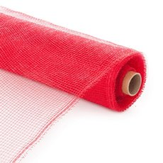 Plain Mesh Wrap - Plastic Mesh Roll Red (55cmx9m)