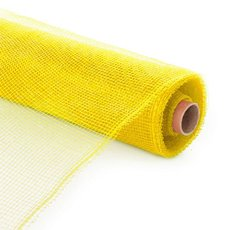 Plain Mesh Wrap - Plastic Mesh Roll Yellow (53cmx9m)