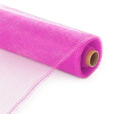 Plain Mesh Wrap - Plastic Mesh Roll Hot Pink (55cmx9m)