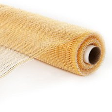 Plain Mesh Wrap - Mesh Metallic Thread Roll Cream (54cmx9.1m)