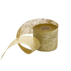 Nonwoven Floral Decor Ribbon - Nonwoven Ribbon Italian Spider Metallic Gold (50mmx20m)