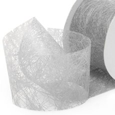 Nonwoven Floral Decor Ribbon - Nonwoven Ribbon Italian Spider White (40mmx20m)