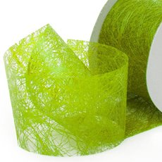 Nonwoven Floral Decor Ribbon - Nonwoven Ribbon Italian Spider Lime Green (40mmx20m)