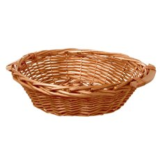 Hamper Tray & Gift Basket - Willow Bread Tray Round Honey (42cmDx14cmH)