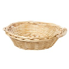 Hamper Tray & Gift Basket - Willow Bread Tray Round Natural (42cmDx14cmH)