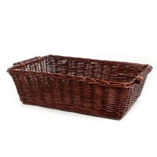 Hamper Tray & Gift Basket - Willow Tray Rectangle Dark Brown (70x48x21cmH)