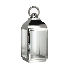 Lanterns & Hanging Candle Holders - Lantern Deluxe Stainless Steel Silver (17x37cmH)