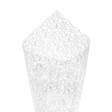 Plain Mesh Wrap - Lace Spider Mesh Sheet White (50x70cm) Pack 40