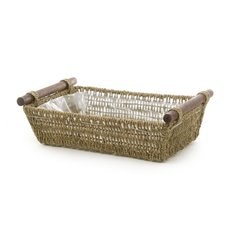 Hamper Tray & Gift Basket - Seagrass Tray Rectangle Small Natural (34x24x9cmH)