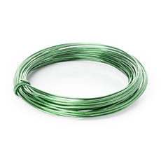 Decor Aluminium Wire - Wire Aluminium 2mmx12m 12 gauges 100g Green/Lime Green