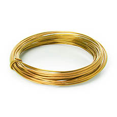 Decor Aluminium Wire - Wire Aluminium 2mmx12m 12 gauges 100g Gold